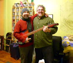 The $100 Guitar, Larry Polansky and Jon Diaz by Amy Beal